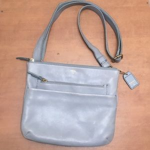 Fossil • soft leather ajustable CROSSBODY bag